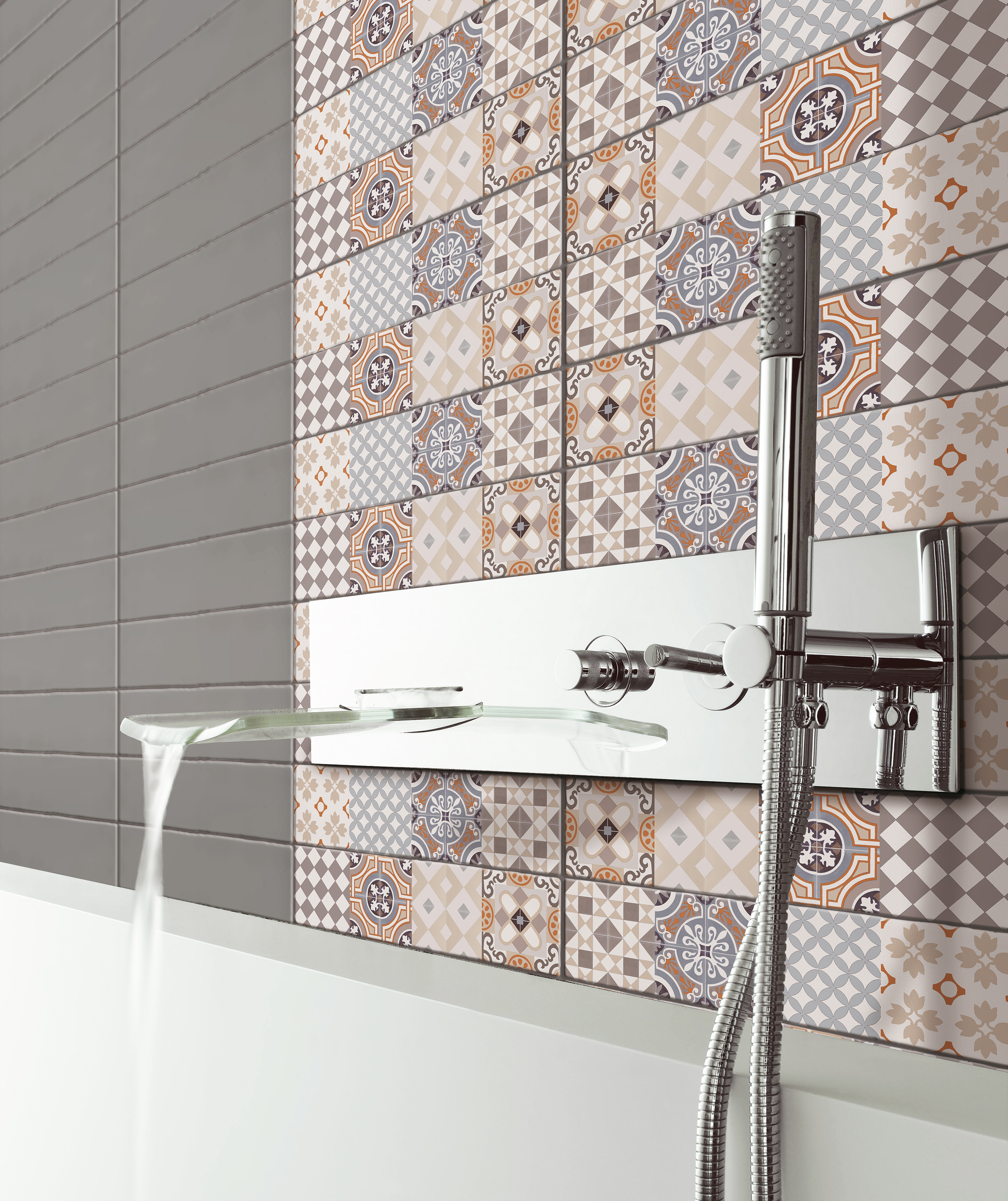 Renovar las paredes de la sala de ba o azulejos pe a - Ceramicas para el bano ...