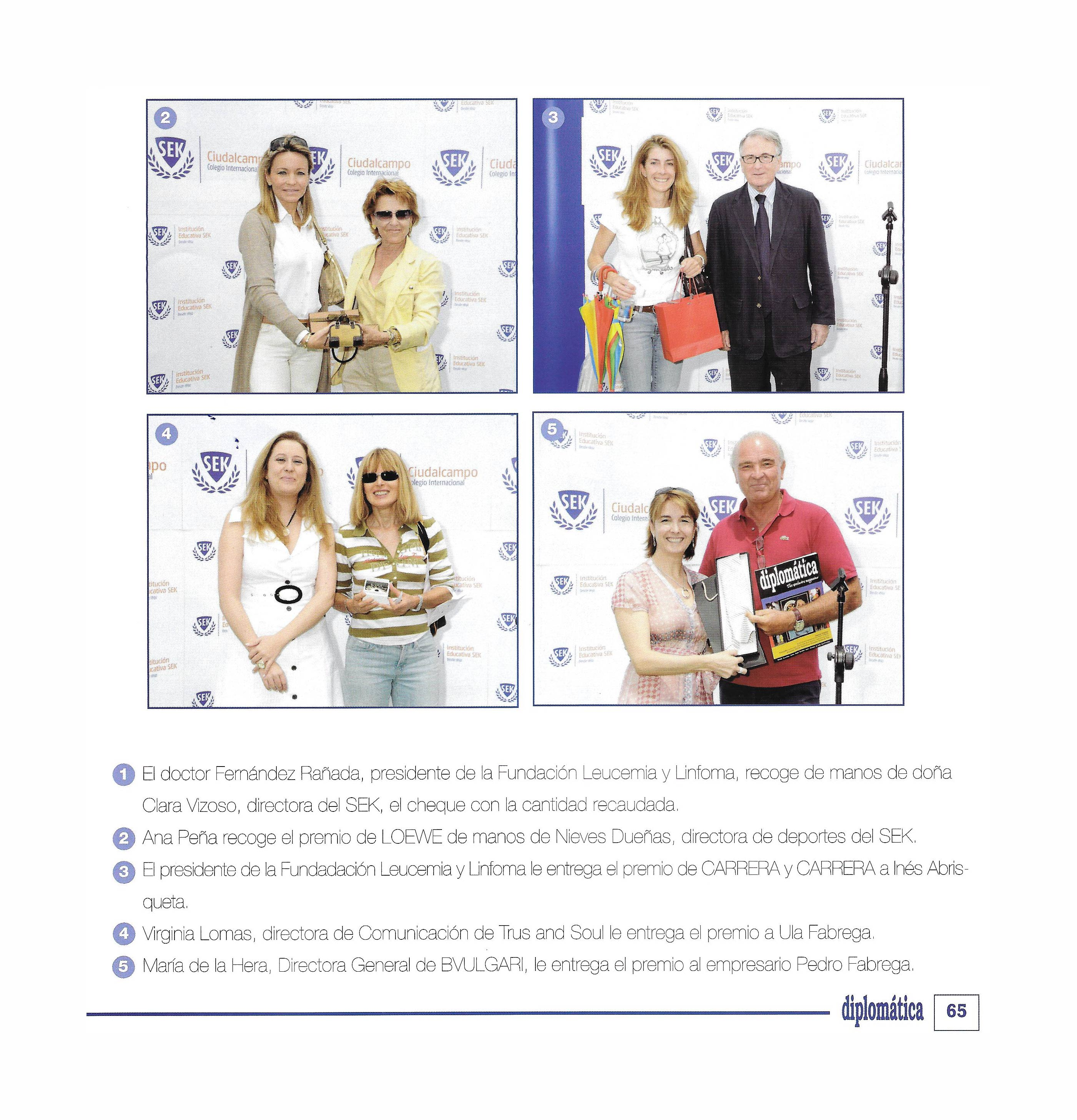 Ana Peña recoge el premio LOEWE