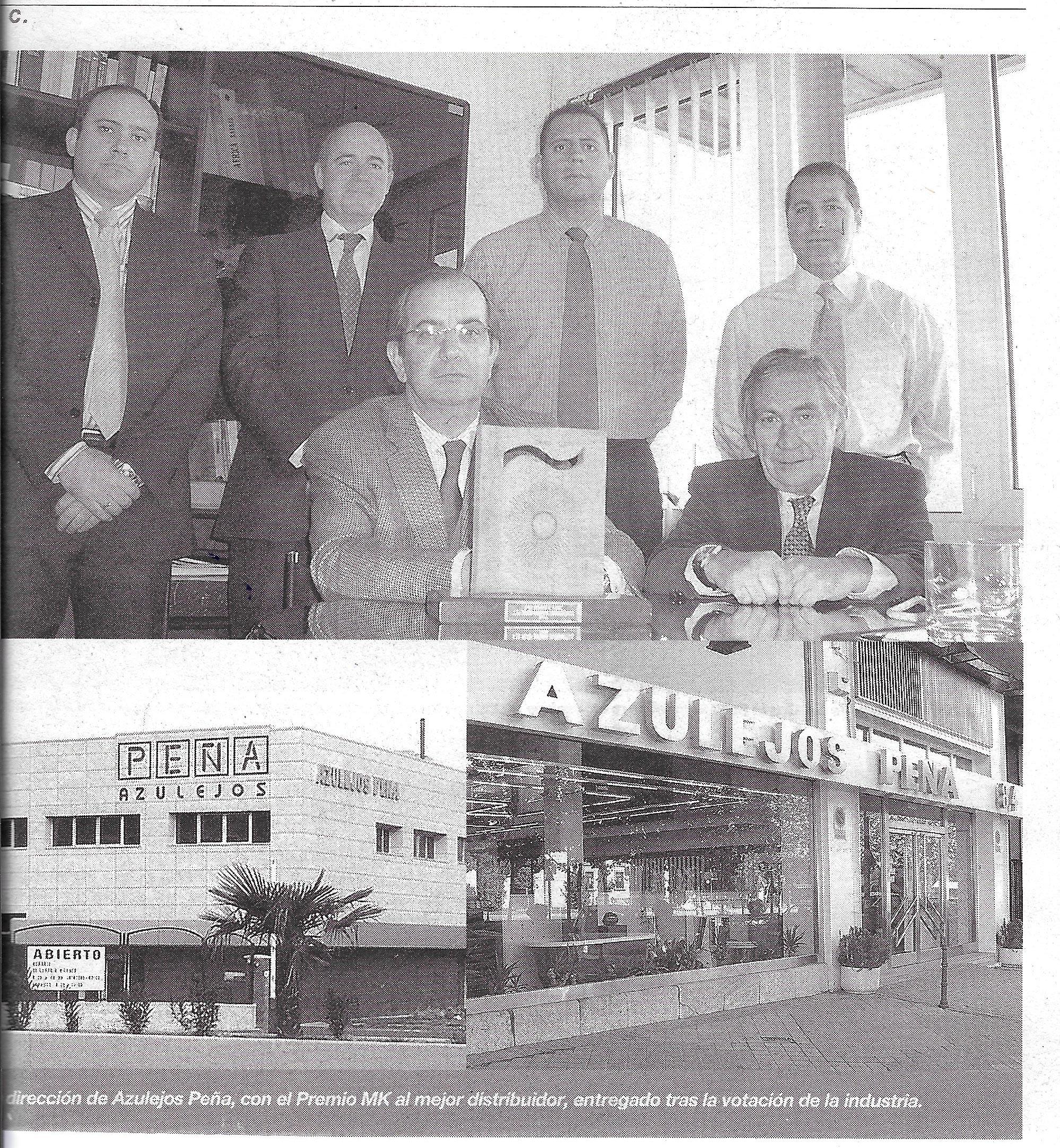 Azulejos Peña «Premio MK» al mejor distribuidor