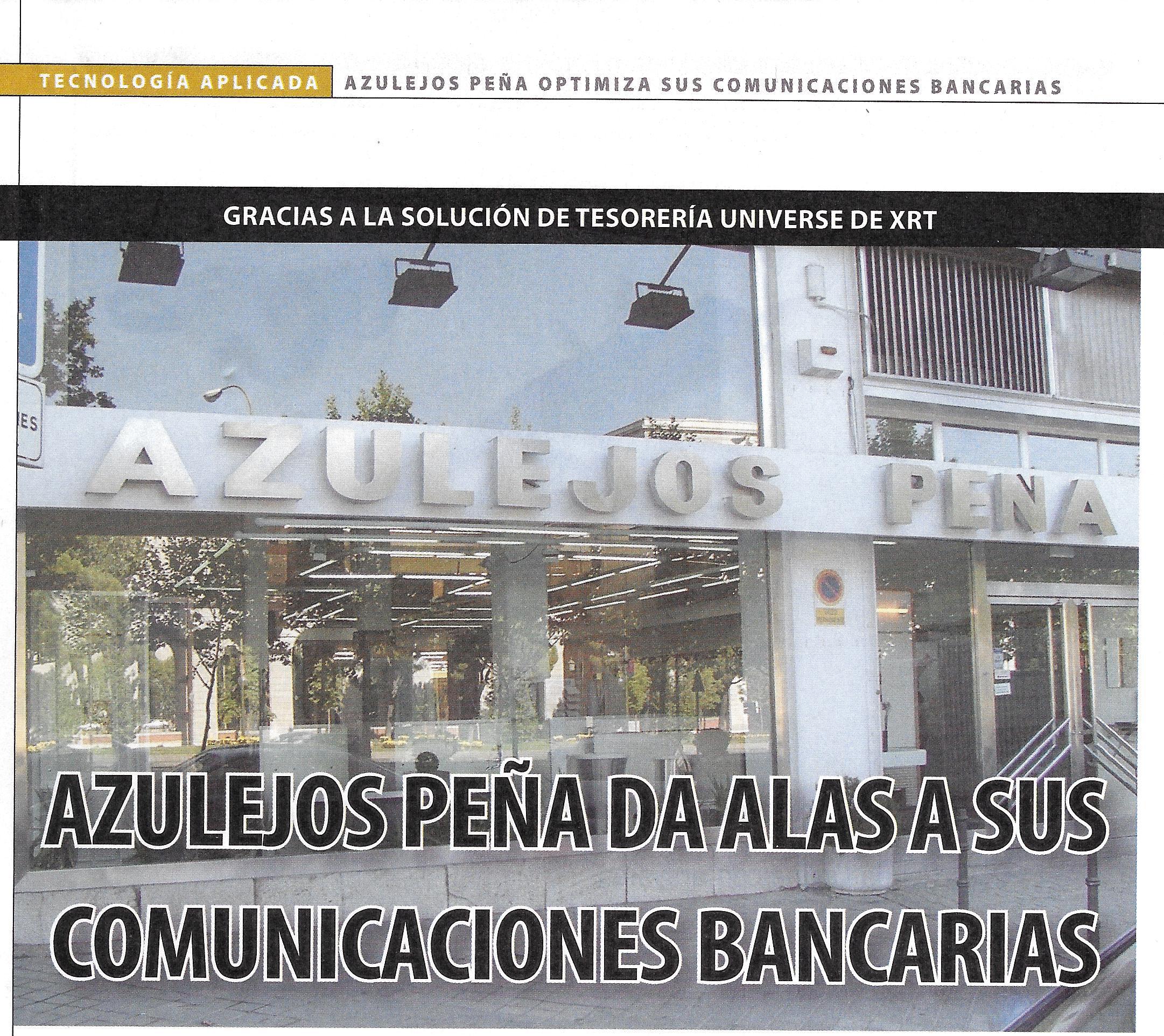 Azulejos Peña da alas a sus comunicaciones bancarias