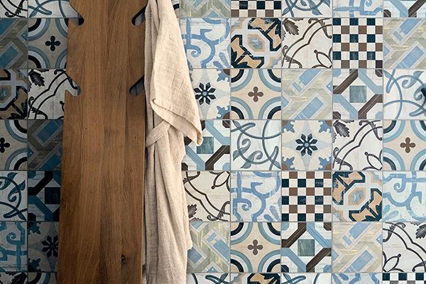 azulejos hidraulicos para el baño