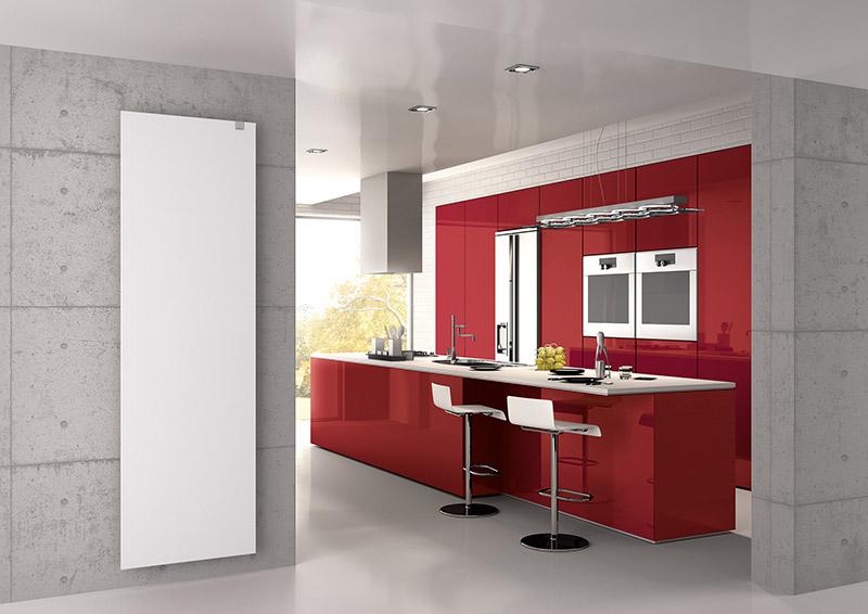radiadores de diseño y eficiencia energetica cocina
