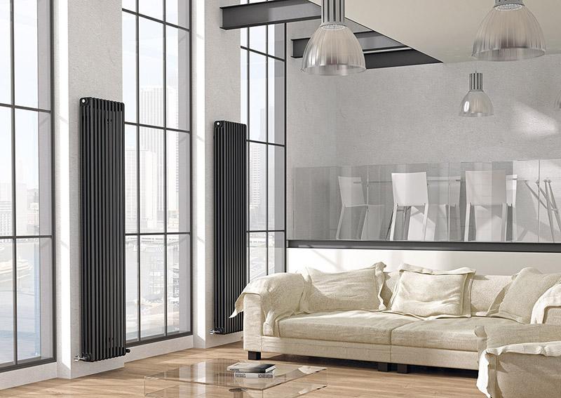 radiadores de diseño y eficiencia energetica salon Azulejos Peña