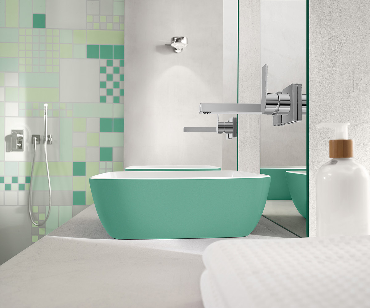 Consejos para planificar la sala de ba o azulejos pe a for Azulejos para lavabos