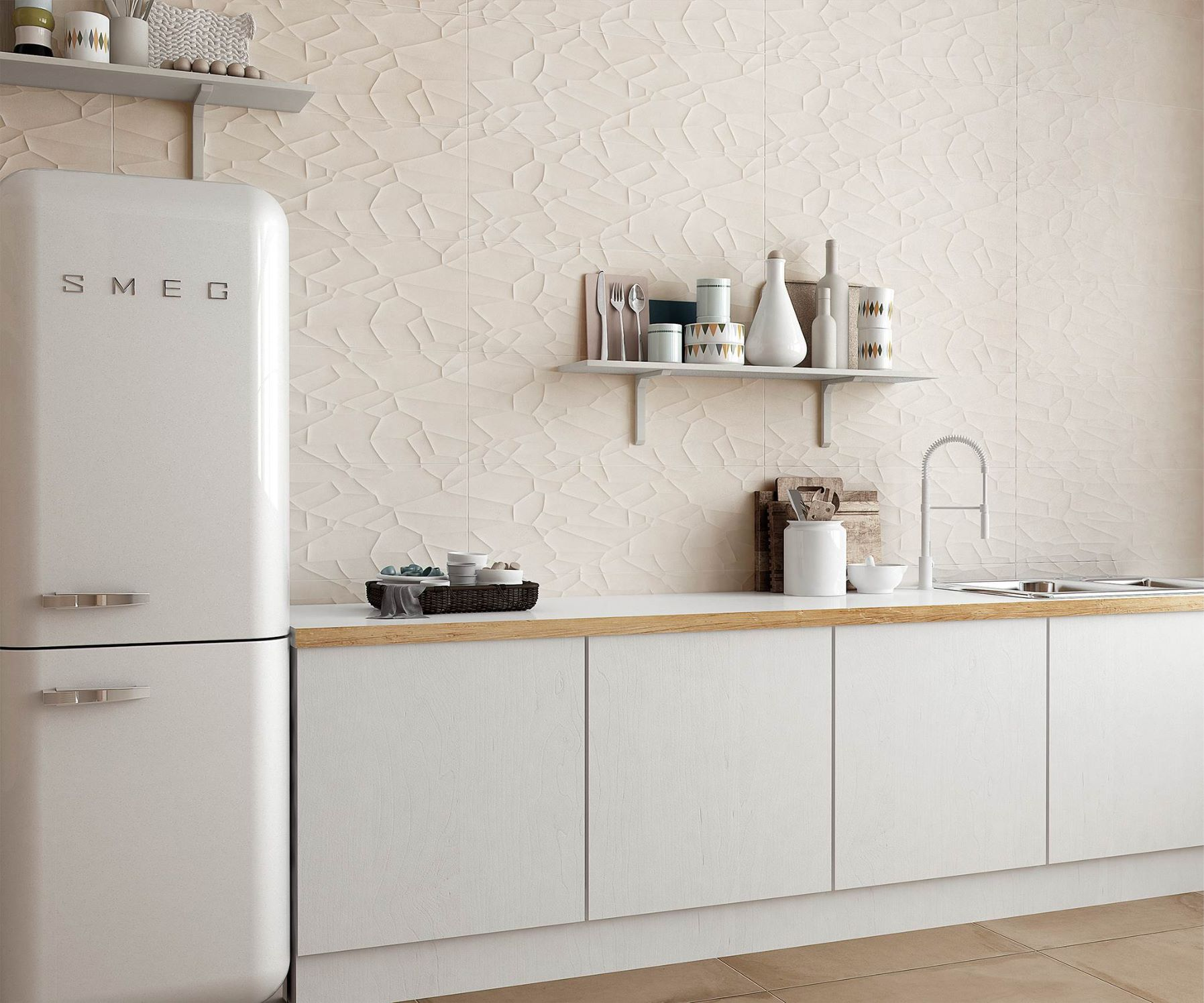 Azulejos de relieve en el dise o de interiores azulejos pe a for Ceramica cocina decoracion