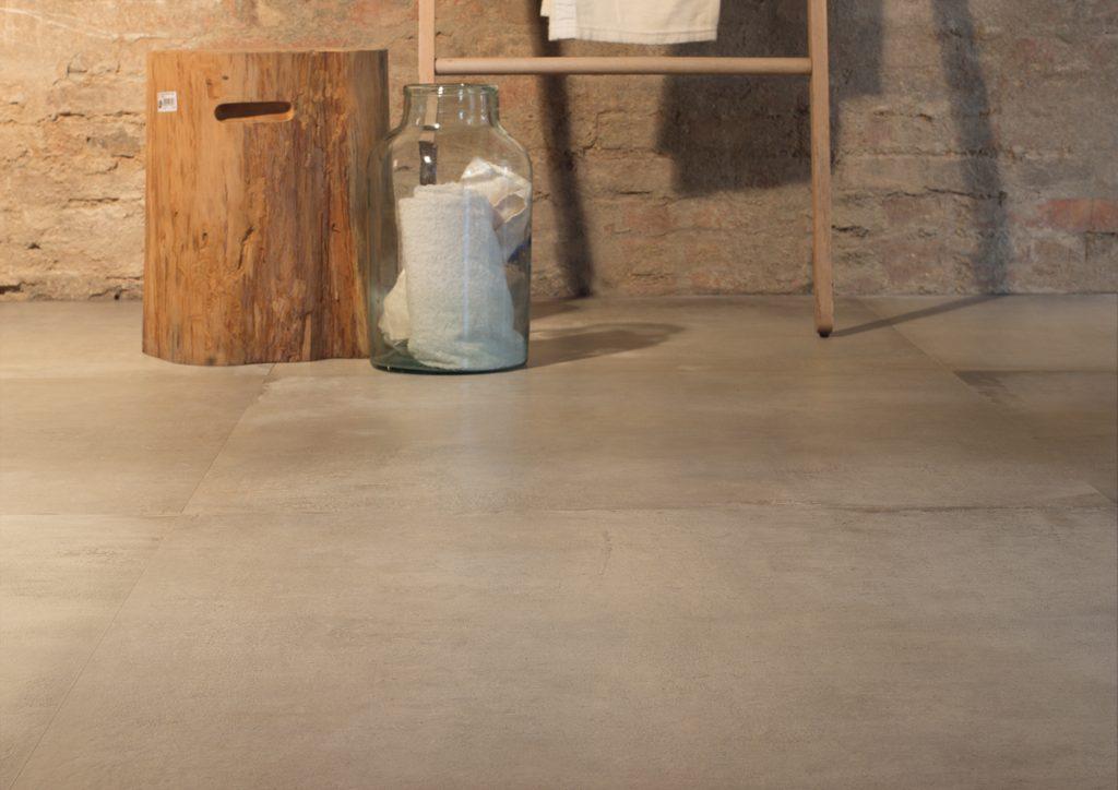 Cer mica de gran formato efecto cemento azulejos pe a - Azulejos pena banos ...
