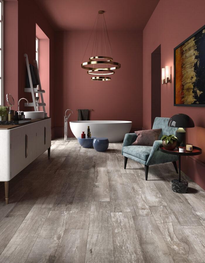 Material porcelánico sensación madera