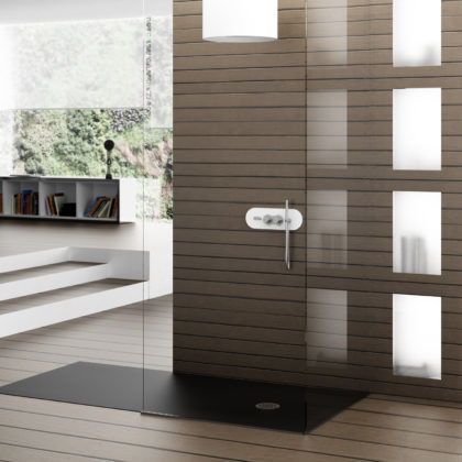Plato de ducha compacto