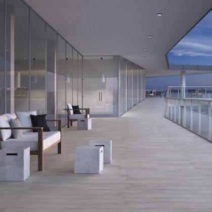 Suelo porcelánico para ambientes de exterior
