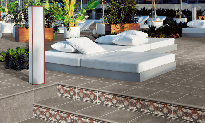 Material de gres porcel nico exterior azulejos pe a - Azulejos de patio ...