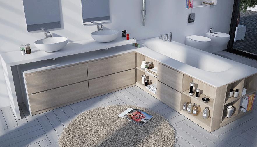 Muebles de ba o a medida azulejos pe a for Imagenes de muebles de bano