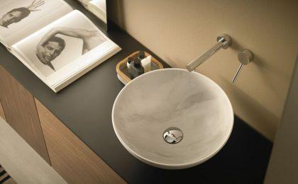 Mármol en tonalidades de grises -lavabo-sicilia