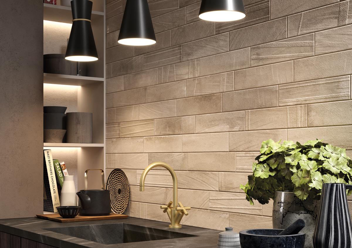 Materiales exclusivos para el revestimiento de la cocina for Revestimiento pared cocina