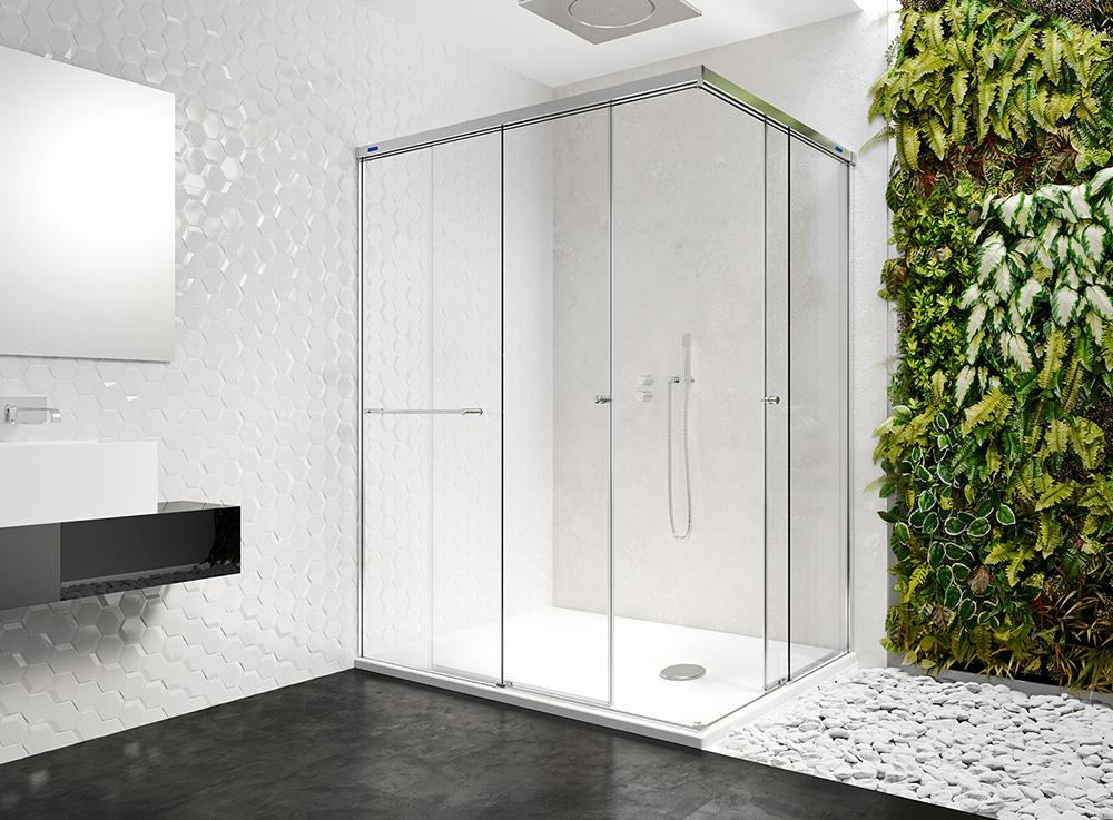 mampara de ducha con toallero azulejos pe a