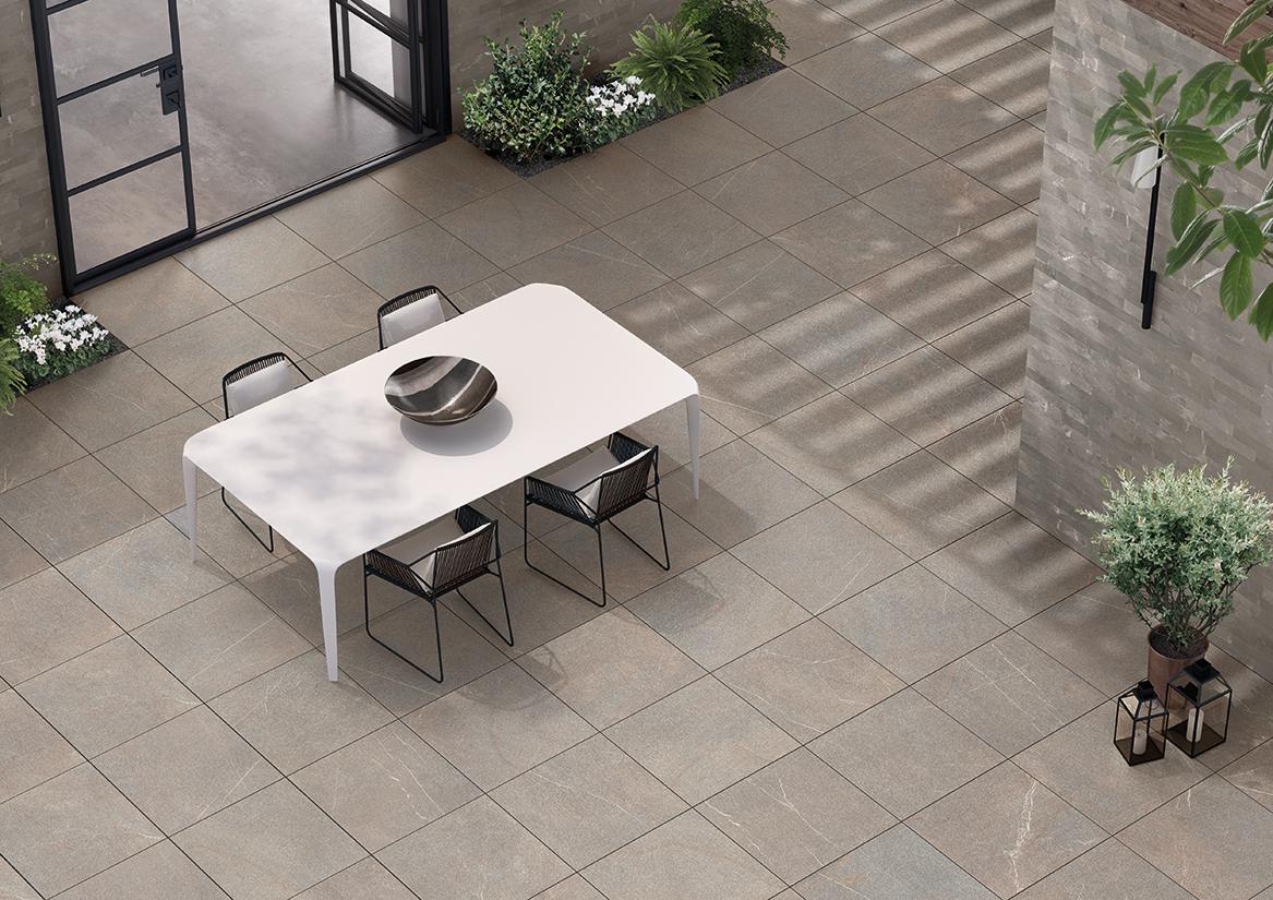 Azulejos para terrazas azulejos para terraza cinca highlander beige lote de lminas para - Pavimentos para terrazas ...