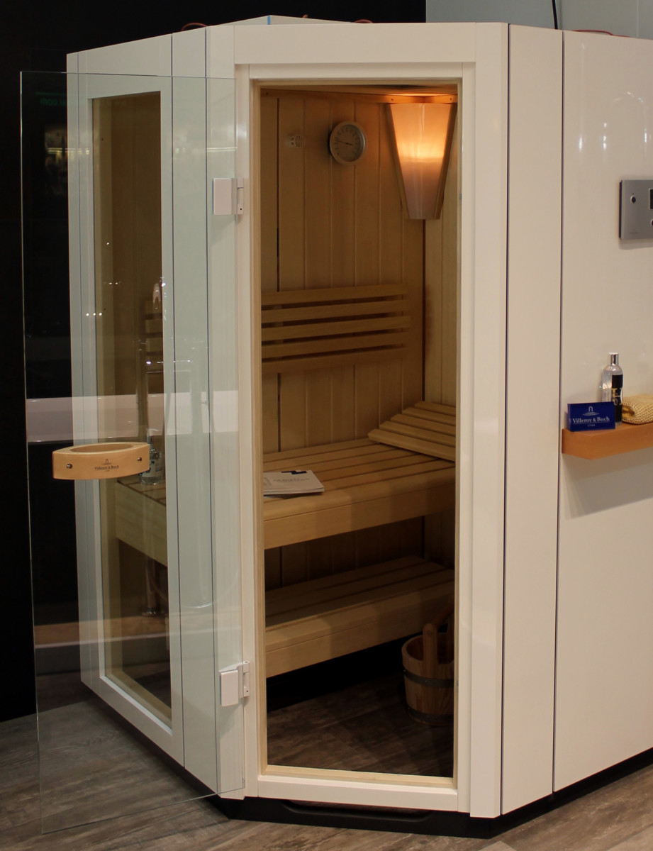 Sauna vivia sa line pentagonal color blanco azulejos pe a - Azulejos pena precios ...