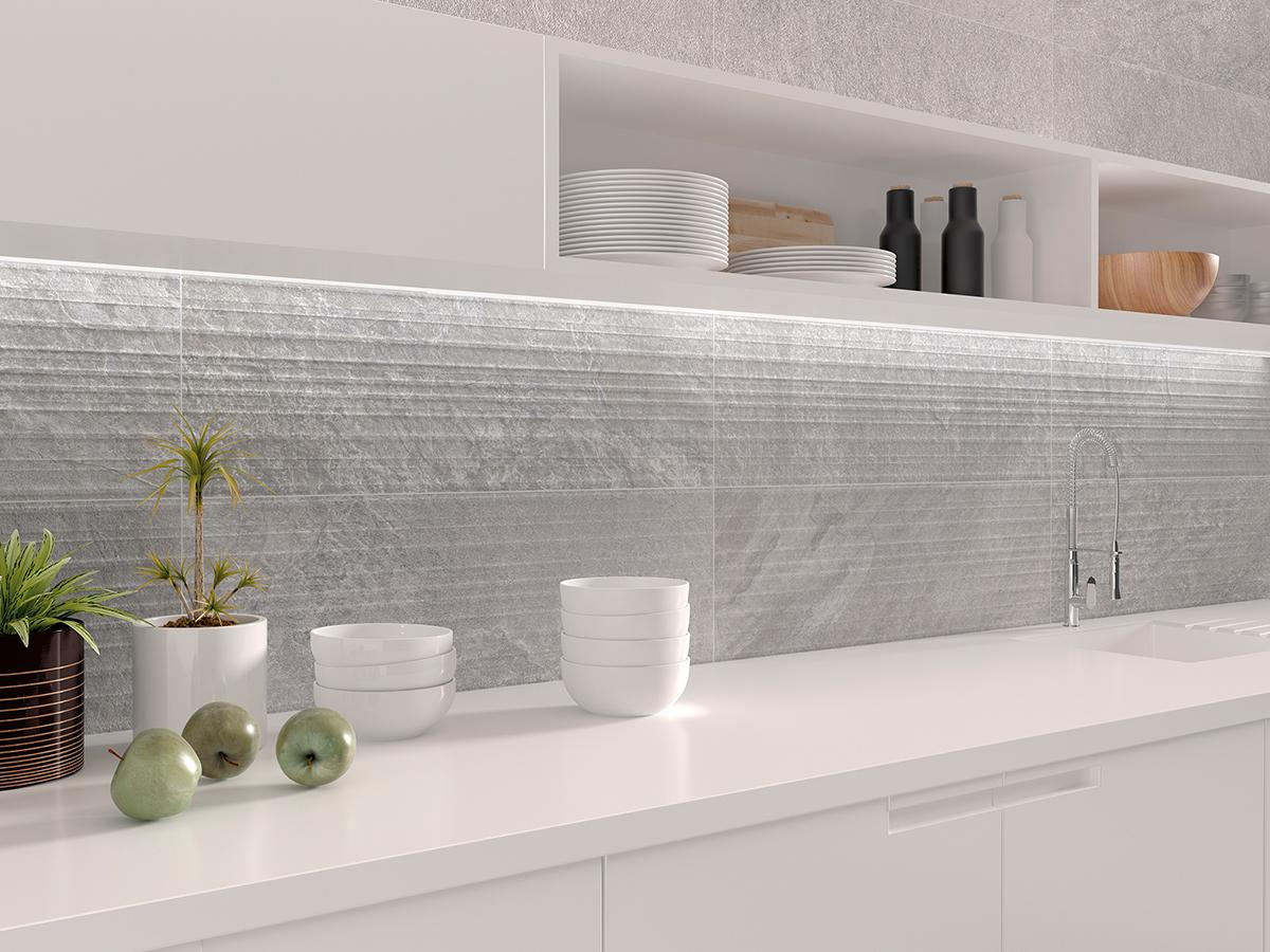 5 revestimientos cer micos para tu cocina azulejos pe a for Revestimiento de paredes para duchas