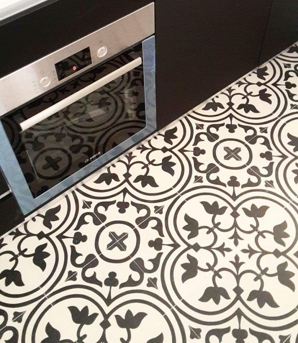 Azulejo hidr ulico en la cocina azulejos pe a - Azulejos pena arganda del rey ...