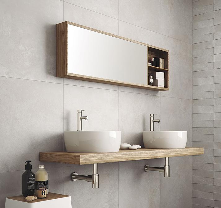 Revestimiento decorativo grandes formatos y ba os for Panel de revestimiento para banos y cocinas