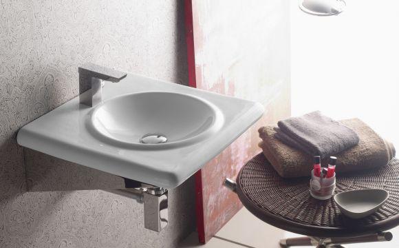 lavabo con soporte