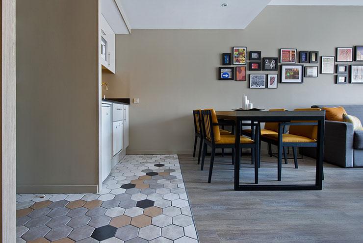 Decoración con azulejos geométricos