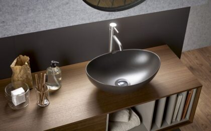 lavabo de hierro fundido
